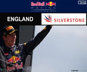 puzzel Max Verstappen, de Britse Grand Prix 2016