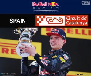 puzzel Max Verstappen, G.P Spanje 2016
