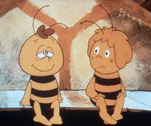 puzzel Maya de Bee en haar vriendin Willi