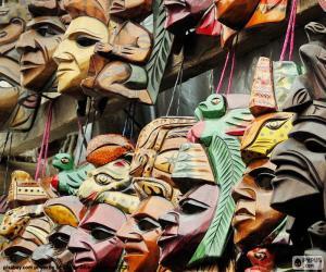 puzzel Maya maskers