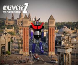 puzzel Mazinger z 40ste verjaardag (1972-2012)