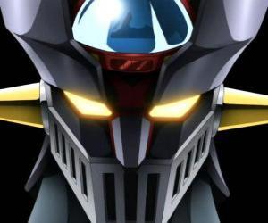 puzzel Mazinger Z, hoofd van de gigantische Super Robot, hoofdpersoon van de avonturen in de manga-serie Mazinger Z
