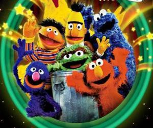 puzzel Meerdere tekens van Sesamstraat