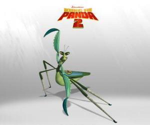 puzzel Meester Mantis heeft een zeer duidelijke Napoleon complex: sterk, snel en kort, heeft een slecht karakter