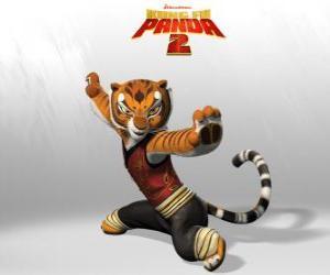 puzzel Meester Tijger is de sterkste en dapperste van de meesters van Kung Fu.