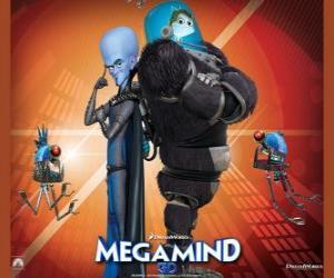 puzzel Megamind met Minion, de vis verstandig