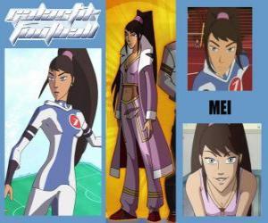 puzzel Mei is de speler nummer 7 van de Snow Kids team