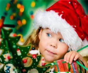 puzzel Meisje voorbereiden van de kerstvakantie