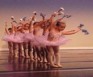 puzzel Meisjes doen ballet