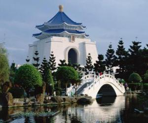 puzzel Memorial Hall van Chiang Kai-shek, Taipei, Taiwan