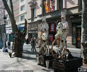 puzzel Menselijke standbeelden, Barcelona