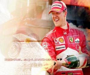 puzzel Michel Schumacher (Kaiser) op het podium