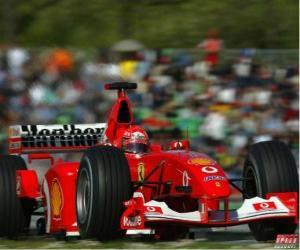 puzzel Michel Schumacher (Kaiser) loodsen zijn F1