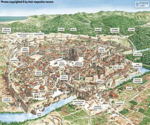 puzzel Middeleeuwse stad