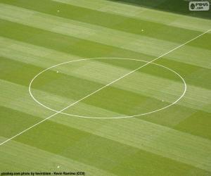 puzzel Middencirkel van een voetbalveld