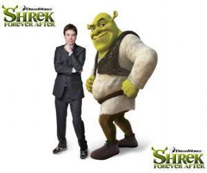 puzzel Mike Myers geeft de stem van Shrek in de nieuwste film Shrek Forever Na