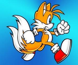 puzzel Miles Prower, bekend als Tails is een vos met twee staarten die kan vliegen