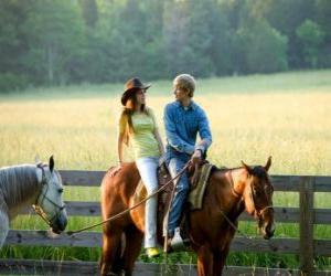 puzzel Miley Stewart te paard