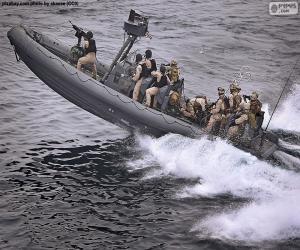 puzzel Militaire opblaasboot