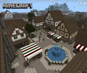 puzzel Minecraft dorp