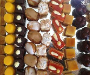 puzzel Mini zoete desserts