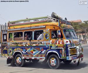 puzzel Minibus, Dakar, Senegal