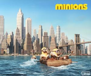 puzzel Minions aankomen in New York