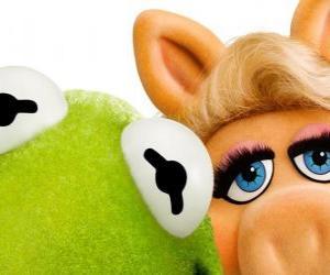 puzzel Miss Piggy en Kermit de Kikker