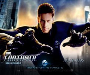 puzzel Mister Fantastic is de leider van de Fantastic Four met zijn buitengewone elasticiteit