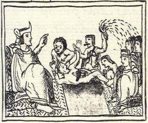 puzzel Moctezuma in de troon. De Huey Tlatoani, de heerser van de oude Azteekse mensen