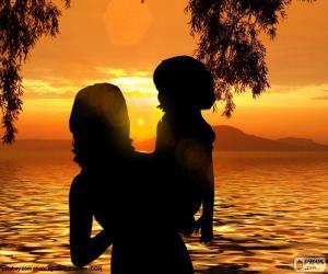 puzzel Moeder met haar zoon in haar armen