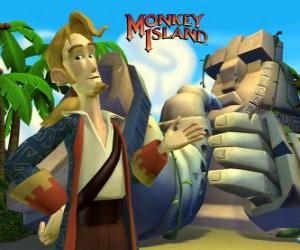 puzzel Monkey Island, een avontuur videospel. Guybrush Threepwood, een belangrijke speler