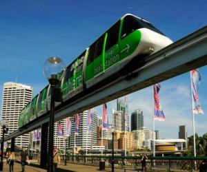 puzzel Monorail trein