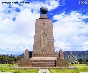 puzzel Monument aan het Midden van de Wereld, Ecuador