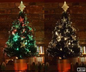 puzzel Mooie boom van Kerstmis