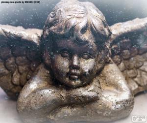 puzzel Mooie kerst engel