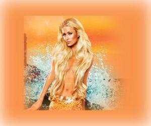 puzzel Mooie zeemeermin met haar lange haren