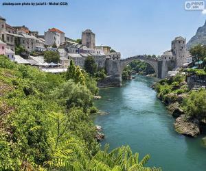 puzzel Mostar, Bosnië en Herzegovina