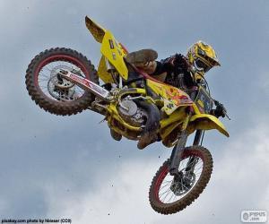 puzzel Motorcross-stap-springen