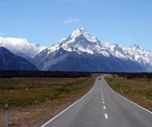 puzzel Mount Cook, Nieuw-Zeeland