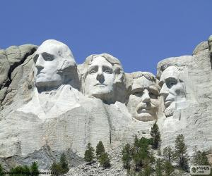 puzzel Mount Rushmore, Verenigde Staten