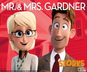 puzzel Mr. en Mrs. Gardner, Ooievaars