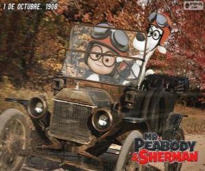 puzzel Mr. Peabody en Sherman in zijn reis naar het jaar 1908