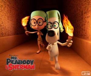 puzzel Mr. Peabody en Sherman in één van hun avonturen in Egypte