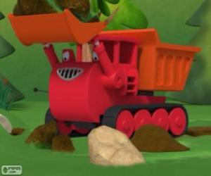 puzzel Muck, de bulldozer