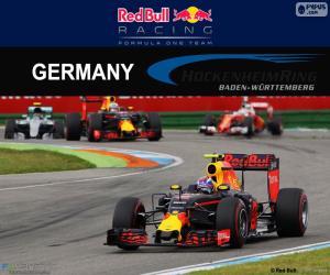 puzzel M.Verstappen, de Duitse Grand Prix 2016
