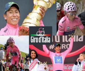 puzzel Nairo Quintana, Giro 2014