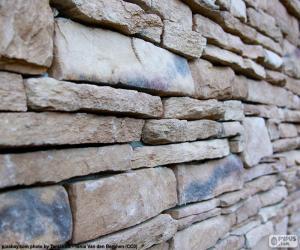 puzzel Natuurlijke stenen muur