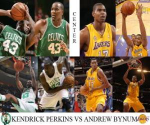 puzzel NBA Finals 2009-10, Center, Kendrick Perkins (Celtics) vs Andrew Bynum (Lakers)