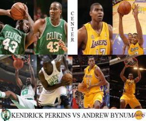 puzzel NBA Finals 2009-10, Center, Kendrick Perkins (Celtics) vs Andrew Bynum (Lakers)